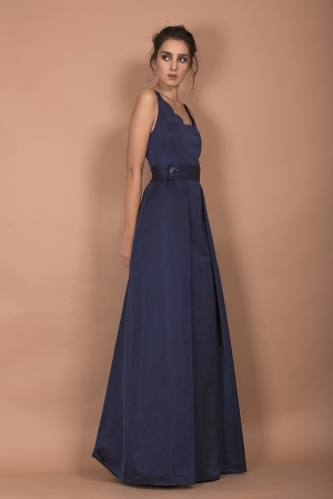 LONG DRESS IN DUCHESSE