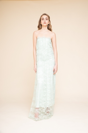 LONG DRESS IN PIZZO CHANTILLY