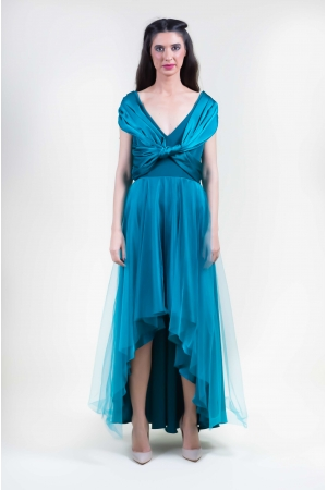 LONG DRESS CON GONNA IN TULLE