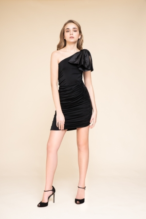 ONE-SHOULDERED DRESS WITH...