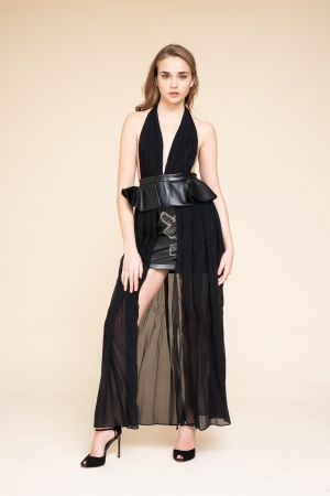 ASYMMETRICAL DRESS WITH...