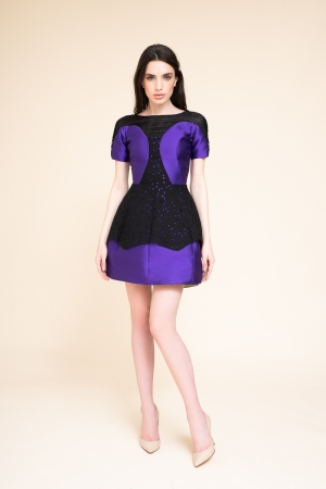 MINI DRESS IN DOPPIO RASO