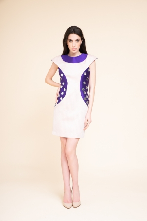 MINI DRESS WITH EMBROIDERED...