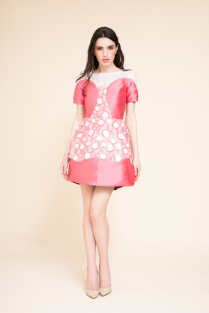 MINI DRESS CON FIORI IN PVC