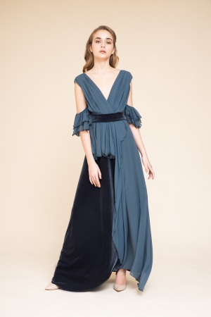 LONG DRESS IN VELLUTO E...