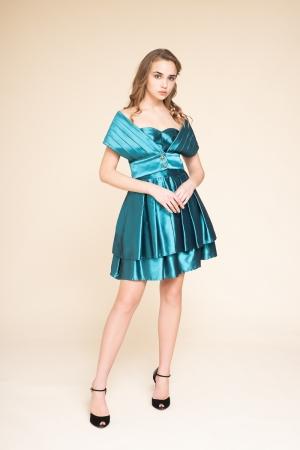 DUCHESS SATIN DRESS PAIRED...