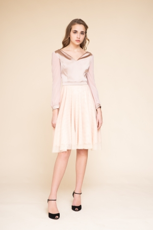 DRESS WITH TULLE SKIRT
