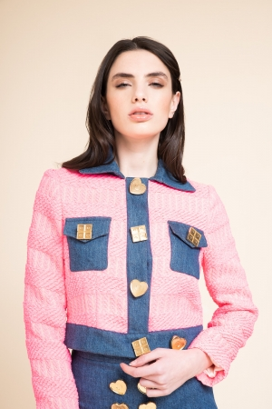 LIGHT BOUCLÉ JACKET WITH...